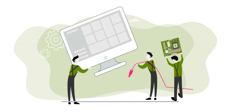Suministro e instalación de equipos informáticos y redes